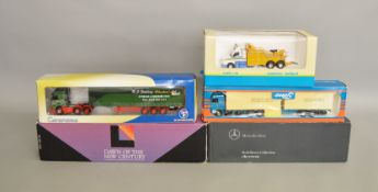 5 boxed 1:50 scale die-cast lorries by; Tekno, Cararama etc (5).