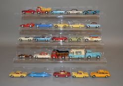 25 unboxed Corgi Toys with varying degrees of play wear and with some repainting, including 428