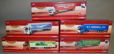 5 Corgi 1:50 scale die-cast truck models, which includes; M & M Greene LTD Llanelli, West Wales,