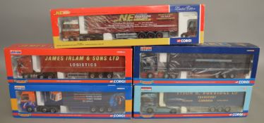 5 Corgi 1:50 scale die-cast truck models, which includes; Stewart, Woody's Express etc which are all