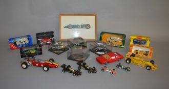 9 boxed diecast models by Onyx, Corgi, Quartzo and others together with an empty box and 7