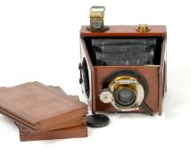 A Shew Shewgraph Camera with Clip-on Adam Finder. (condition 5F) with three 8x10cm DDS.