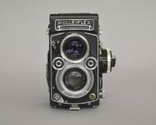 Metered Rolleiflex 3.5F TLR Camera.