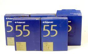 5 Boxes of Polaroid Type 55 5x4 Instant Film.