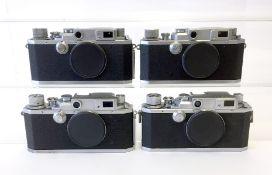 Four Canon Rangefinder Cameras Bodies, inc MIOJ Example.