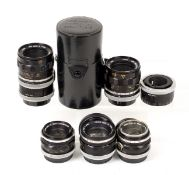 Canon FL Standard & Macro Lenses.