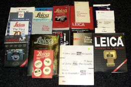 Over 20 Leica Books and Catalogues.