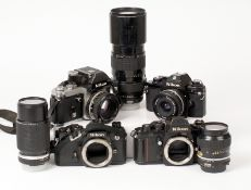 Group of Well Used Nikon Equipment.