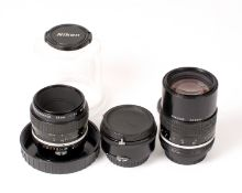 Nikon 135mm & Micro-Nikkor 55mm Lenses.