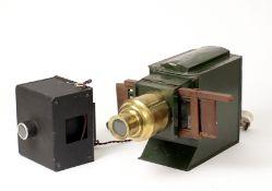Butchers 'Boys Own' Magic Lantern with Brass Lens.
