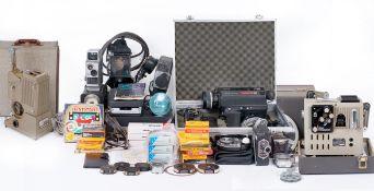 A Large Quantity of Cine Equipment, Including Unused Soviet Film.