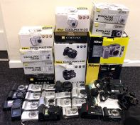 Quantity of Nikon Coolpix Compact & Bridge Digital Cameras.