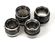 Four Canon Standard Lenses, inc 58mm f1.2 Prime Lens.