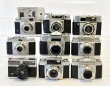 Nine Various Agfa 35mm Cameras.