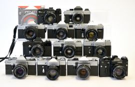 Group of Twelve Various Screw Mount Cameras.