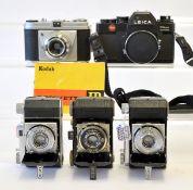 Leica R3 MOT Body & Various Kodak Cameras.