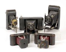 Five Large Folding Cameras, inc Gorez Tenax.
