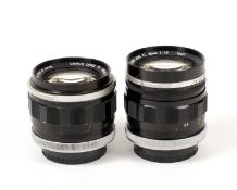 Two FAST Canon FL Lenses.