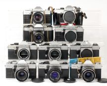Ten Various Praktica Bodies & Lenses
