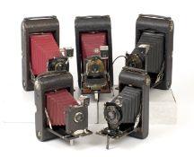 Group of LARGE Folding Kodak Cameras.