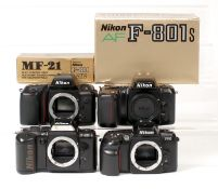Group of Nikon Autofocus Camera Bodies.