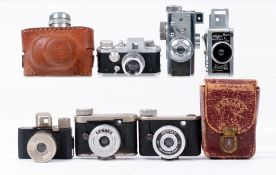 Group of Six Subminiature Cameras.