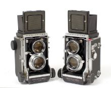 Pair of Mamiyaflex C22 Professional TLRs.