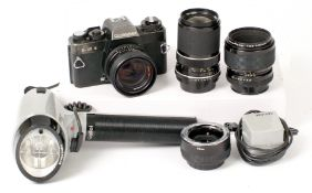 Rollei SL35E Outfit with 60mm Makro-Planar Lens.