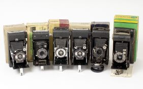 Ensign & Other Folding Cameras, in Original Boxes.