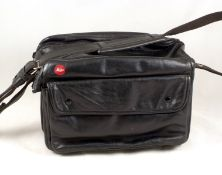 Black Leather Leica Outfit Bag.