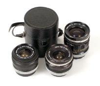 Three Canon FL Wide Angle Lenses.