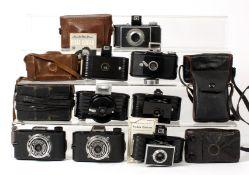 Eight Small Bakelite Cameras inc Kodak Bantam.