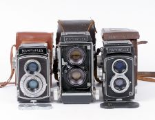 Mamiyaflex C with 'Blue Spot' Lens & Two Other TLRs.