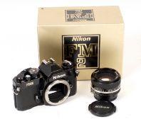 Black Nikon FM2n Body in Maker's Box.