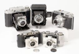 Group of Folding 120 & Other Roll Film Cameras.