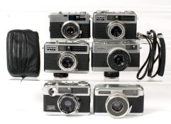 Group of Six Half Frame Cameras.