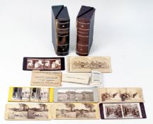 Around 50 Stereo Cards, in Uncommon Boxes Marked Stereographs.