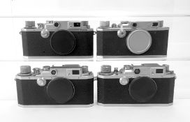 Four Canon Rangefinder Cameras Bodies. Model #37744 Canon Camera Company LTD. (Made in Occupied