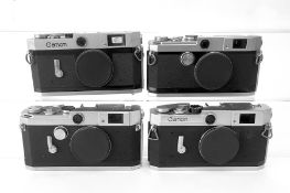 Four Canon Rangefinder Camera Bodies. Model VL #565982 - Canon Camera Company INC. Japan; Model VI L