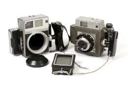 Two Mamiya Roll Film Cameras.