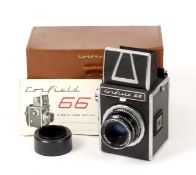 Corfield 66 120 SLR with Roll Film Back.