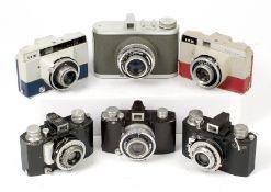 Six French Cameras, inc Coloured SEM Models.