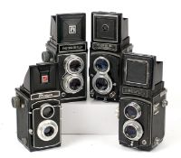 Group of Four 120 TLR Cameras.