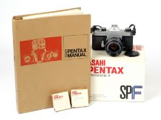 Boxed Pentax Spotmatic F with 50mm f1.4 Lens.
