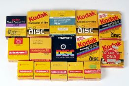 Quantity of Kodak Cine & Disc Film.
