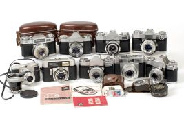 A Group of Zeiss Ikon Contaflex & Other Cameras.