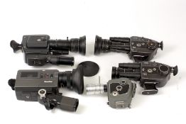 Group of Beaulieu Cine Cameras.