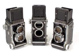 Group of Three Mamiyaflex TLR Cameras.