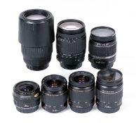 Group of Canon AF Lenses.