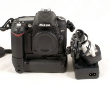 Nikon D90 DSLR Body with Battery Grip.